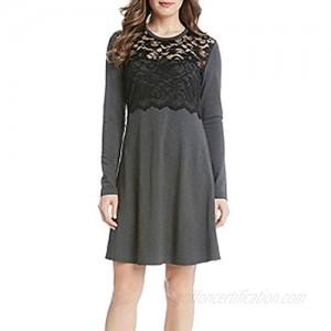 Karen Kane Women's Scallop Lace Overlay Dress