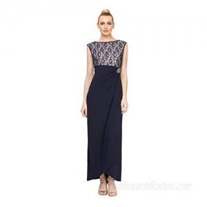 S.L. Fashions Women's Jewel-Neck Sheath Dress