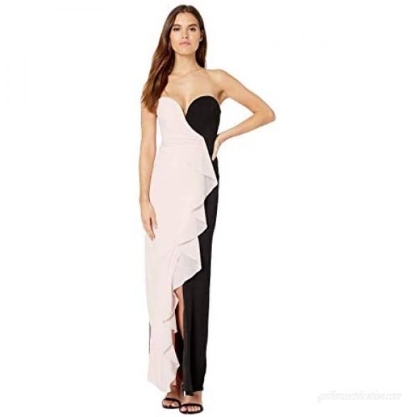 Nicole Miller Women's Strapless Ruffle Gown