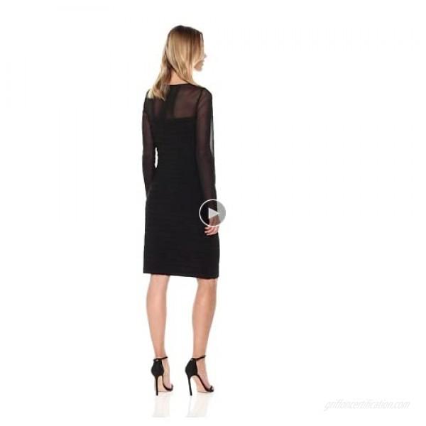 Adrianna Papell Women's Matte Jersey Pintucked Dress