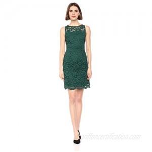 Brand - Lark & Ro Women's Sleeveless Crew Neck Lace Sheath Dress