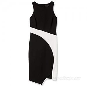 GUESS Women's Asymetrical Color Block Dress
