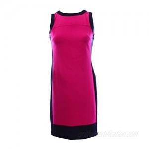 Lauren Ralph Lauren Womens Colorblock Sleeveless Wear to Work Dress Purple 6