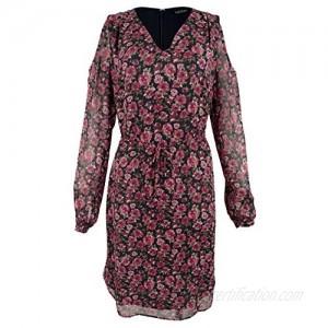 Ralph Lauren womens Floral-print Cold-shoulder Dress