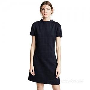 Theory Women's Dolman Shift Windowpane Dress