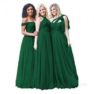 Dresspic Dusty Blue Tulle Wedding Bridesmaid Dress 2018 For Women B004